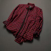 kemeja flanel pria lengan panjang premium pola slimfit shirt 10