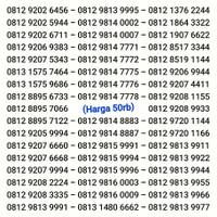Nomor Cantik SIMPATI Kartu Perdana Telkomsel 11 AS 12 digit angka