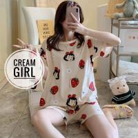 baju tidur wanita stelan celana pendek / baju tidur anak perempuan