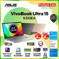 ASUS VIVOBOOK ULTRA 15 K513EA i3-1135G4 4GB 256GB 15.6 OLED OHS W10