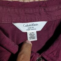 Polo Shirt CALVIN KLEIN Body Fit Kaos Polo Ungu Original Second