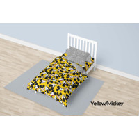Bed Cover California Single 120x200 Motif Yellow Mickey