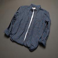 Kemeja flanel pria lengan panjang premium pola(slim fit) shirt 104