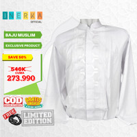 Baju Koko Muslim Big Size Jumbo XXL XXXL 3XL 4XL Lengan Panjang Putih