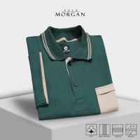 Kaos Polo Pria Morgan Casual Premium Cotton Lacoste Tersedia 6 Warna