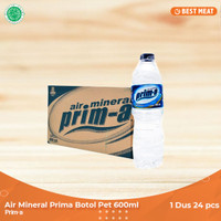 Air mineral Prima Botol Pet 600ml (24pcs)