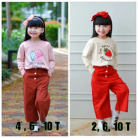 Baju Setelan Anak Perempuan 2 - 10 Tahun Set Kaos Kulot Girly Jovanka