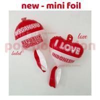 Balon Foil mini HUT RI / I Love Indonesia DIRGAHAYU RI merah putih 17