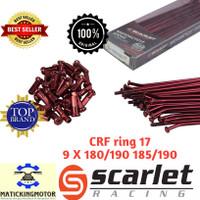 Jari jari ruji CRF Ring 17 bukan TDR Scarlet ChromeHitam MerahBiruGold - Merah