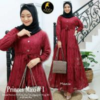 Baju Muslim Wanita Gamis Syari Princes Maxy Brukat Label Haffi