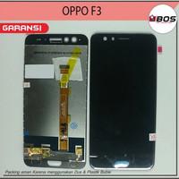 LCD TOUCHSCREEN OPPO F3 CPH1609 HITAM