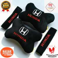 BANTAL MOBIL SATU SET MERK HONDA BANTAL MOBIL + 2 PCS SARUNG SEAT BELT