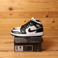 Sepatu Nike Air Jordan 1 High Retro Black White Premium BNIB Quality
