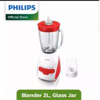 Philips blender kaca HR2116/60 merah 350W