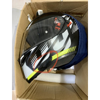 Helm AGV K5S Darkstorm Yellow Fluo - Black Matte Bonus Sena 3S