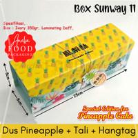 Dus kotak nastar taiwan pineapple kue nanas+tali+hangtag (Sunway 11)