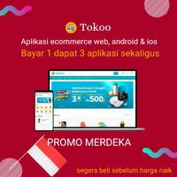 Aplikasi website ecommerce android dan ios flutter