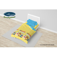 Bed Cover California Single 120x200 Motif Vacation / We Bare Bears