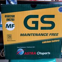 Aki Mobil/ Genset/GS ASTRA MF NS70/ GS NS 70 MF/ Kering 65D26 / 65 AH