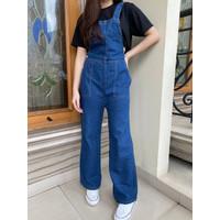 Jumpsuit Baju Kodok Jeans Wanita X65