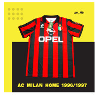 JERSEY RETRO AC MILAN HOME 1996 / 1997 LOTTO OPEL (Limited Edition)
