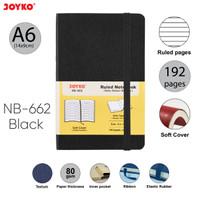 Notebook Buku Tulis Catatan Diary Agenda Joyko Soft Cover - Black, A6