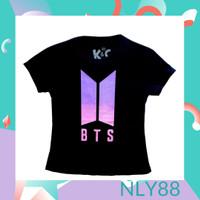 NLY88 Baju Anak / Kaos Anak Perempuan Lengan Pendek BTS Black 1-10