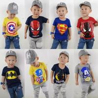 Kaos distro anak / baju anak laki / atasan anak cowok Random 1-10 Th