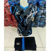 jersey badminton bulutangkis kaos setelan olahraga pria futsal basket - Lis Biru, M