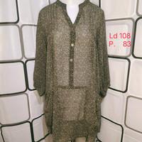 Atasan wanita Blouse import Kualitas Butik Warna Hitam Shopakholic 75