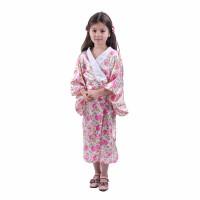 Baju Kostum Tradisional Negara Jepang Anak Kimono Pink Flower