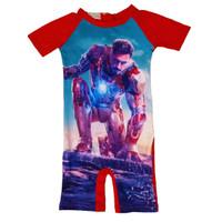Baju Renang Anak Ironman Tony Stark Red