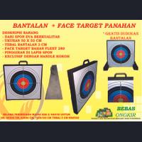 BANTALAN TARGET PANAHAN FACE TARGET EVA SPON 50 X 50 X 3 CM