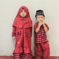 Baju Couple Adik Kakak/ Baju Couple Muslim Anak 0-9 Thn