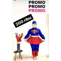 Baju Hazmat/baju APD Supergirl, bahan taslan, tahan air, bisa cuci