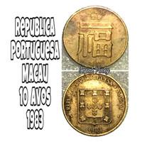 Uang koin kuno macau 10 avos