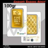 Logam Mulia 100 gram Antam / LM Emas 100 gr Antam CertiCard Terbaru