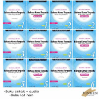 Bahasa Korea Terpadu Untuk Orang Indonesia + Audio Level 1 2 3 4 5 6