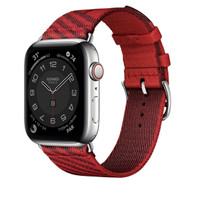 Apple Watch Hermes Series 6 Silver Stainless with Jumping Single Tour