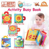 Buku Bayi Anak Soft Book / Activity Busy Cloth Book / Edukasi Lullaby