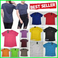 Baju Fitnes Lari Running Gym Olahraga WANITA Kaos Olah Raga Dry Fit - Navy, NIKE size L