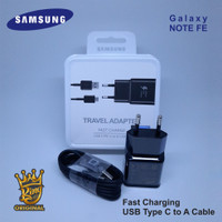 Casan Charger Samsung Galaxy Note FE Fast Charging Original 100% Hitam