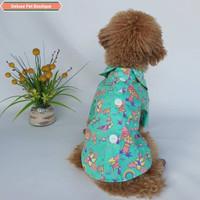 Baju Couple Kemeja Pantai Lucu Anjing Kucing Cowok - DL 34