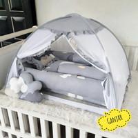 kelambu bayi - kasur bayi - bantal guling bayi baby box - babynest set