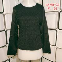Atasan wanita Blouse import Kualitas Butik Warna Hitam Shopakholic 80