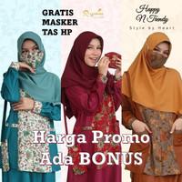 Baju Muslim Gamis Batik Wanita Premium Modern Seragam Kerja Toyobo - Random, XS