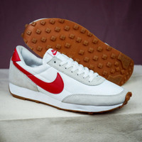 Sepatu Casual Sport Unisex Nike Daybreak White Red Sneakers Original