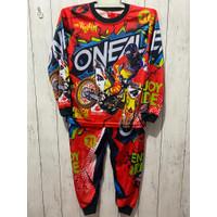 BISA COD/ setelan baju balap anak/ stelan jersey motorcross terbaru - Oneal merah, 18