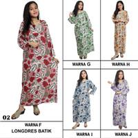 Longdres Batik, Daster Lengan Panjang, Kancing, Bumil-Busui LPT001-02
