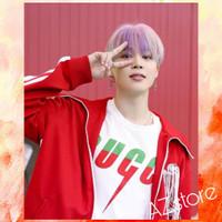 kaos tshirt pria BTS JIMIN G U C C I Butter - Kaos K-pop - free PC - Putih, S
